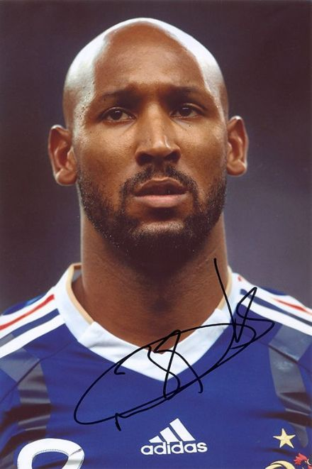 Nicolas Anelka, France, signed 12x8 inch photo.